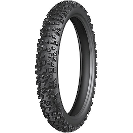 Michelin Starcross HP4 Hardpack Front Tire - 90/100-21 - 1987 Yamaha XT350 Michelin T63 Rear Tire - 110/80-18