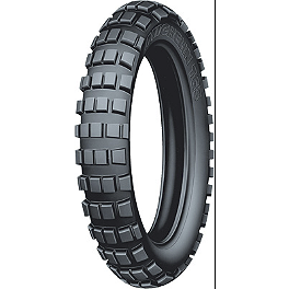 Michelin T63 Front Tire - 80/90-21 - 1999 Yamaha XT350 Michelin AC-10 Rear Tire - 120/90-18