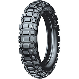 Michelin T63 Rear Tire - 130/80-18 - 2002 Husqvarna TE450 Michelin AC-10 Front Tire - 80/100-21