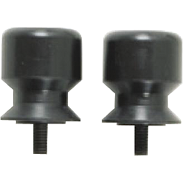 Militant Moto M1 Black Swingarm Spools - Militant Moto Barrier Bar - Black