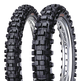 Maxxis Maxxcross IT 80/85BW Tire Combo - 2012 Kawasaki KX85 Acerbis Mud Flap Black