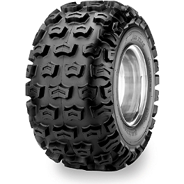 Maxxis All Trak Rear Tire - 22x11-8 - 1986 Suzuki LT50 QUADRUNNER Maxxis RAZR Blade Sand Paddle Tire - 18x9.5-8 - Left Rear