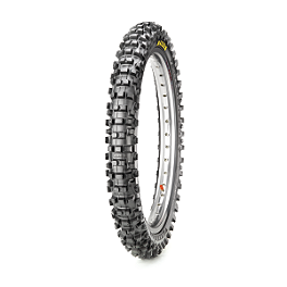 Maxxis Maxxcross Desert IT Front Tire - 80/100-21 - 2002 Kawasaki KDX200 STI Ultra Heavy Duty Tube - 80/100-21