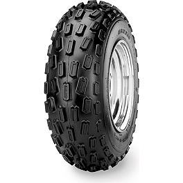 Maxxis Pro Front Tire - 21x7-10 - 1996 Polaris SCRAMBLER 400 4X4 Maxxis RAZR Blade Rear Tire - 22x11-10 - Left Rear
