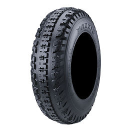 Maxxis RAZR MX Front Tire - 19x6-10 - 2004 Yamaha YFM 80 / RAPTOR 80 Maxxis All Trak Rear Tire - 22x11-10