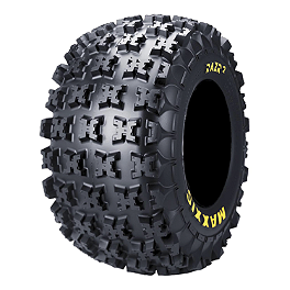 Maxxis RAZR2 Rear Tire - 20x11-9 - 2010 Kawasaki KFX90 Maxxis RAZR Blade Sand Paddle Tire - 18x9.5-8 - Left Rear