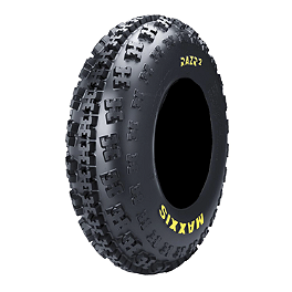 Maxxis RAZR2 Front Tire - 21x7-10 - 2004 Honda TRX450R (KICK START) Maxxis RAZR Blade Sand Paddle Tire - 18x9.5-8 - Left Rear