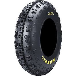 Maxxis RAZR2 Front Tire - 23x7-10 - 2008 Polaris OUTLAW 50 Maxxis All Trak Rear Tire - 22x11-8
