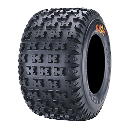 Maxxis RAZR 6 Ply Rear Tire - 22x11-9 - 2002 Yamaha YFM 80 / RAPTOR 80 Maxxis RAZR Blade Sand Paddle Tire - 18x9.5-8 - Left Rear