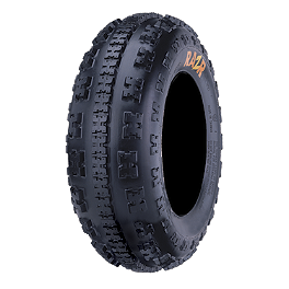 Maxxis RAZR 6 Ply Front Tire - 23x7-10 - 2002 Polaris SCRAMBLER 50 Maxxis RAZR Blade Sand Paddle Tire - 18x9.5-8 - Right Rear