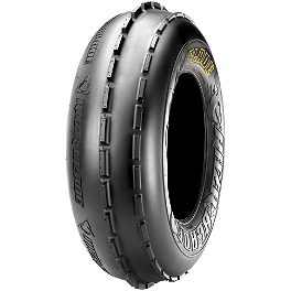 Maxxis RAZR Blade Front Tire - 21x7-10 - 2009 Yamaha RAPTOR 90 Maxxis RAZR Blade Sand Paddle Tire - 18x9.5-8 - Right Rear