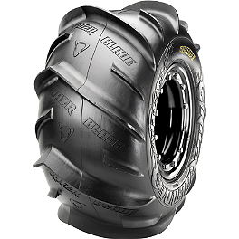 Maxxis RAZR Blade Rear Tire - 22x11-10 - Left Rear - 2010 Kawasaki KFX90 Maxxis RAZR Blade Sand Paddle Tire - 18x9.5-8 - Right Rear