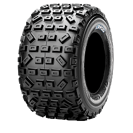Maxxis RAZR Cross Rear Tire - 18x10-8 - 2003 Yamaha YFM 80 / RAPTOR 80 Maxxis RAZR Blade Sand Paddle Tire - 18x9.5-8 - Left Rear