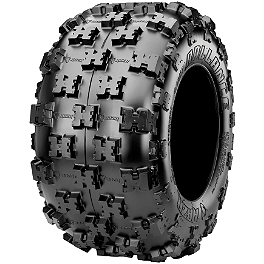 Maxxis RAZR Ballance Radial Rear Tire - 19x10-9 - 2002 Polaris SCRAMBLER 500 4X4 Maxxis RAZR Blade Sand Paddle Tire - 18x9.5-8 - Left Rear