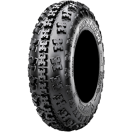 Maxxis RAZR Ballance Radial Front Tire - 21x7-10 - 1999 Yamaha YFM 80 / RAPTOR 80 Maxxis RAZR Blade Sand Paddle Tire - 18x9.5-8 - Right Rear