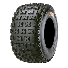 Maxxis RAZR 4 Ply Rear Tire - 20x11-10 - 2002 Yamaha YFM 80 / RAPTOR 80 Maxxis RAZR Blade Sand Paddle Tire - 18x9.5-8 - Left Rear