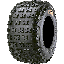 Maxxis RAZR 4 Ply Rear Tire - 22x11-9 - 2011 Yamaha RAPTOR 125 Maxxis RAZR Blade Sand Paddle Tire - 18x9.5-8 - Left Rear