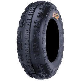 Maxxis RAZR 4 Ply Front Tire - 22x7-10 - 2002 Yamaha YFM 80 / RAPTOR 80 Maxxis RAZR Blade Sand Paddle Tire - 18x9.5-8 - Right Rear