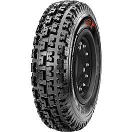 Maxxis RAZR XC Cross Country Front Tire - 21x7-10 - 2009 Yamaha RAPTOR 90 Maxxis RAZR Blade Sand Paddle Tire - 18x9.5-8 - Right Rear
