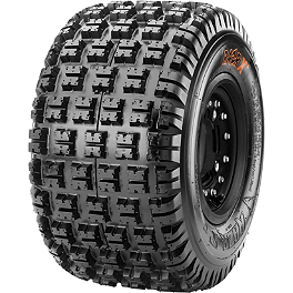 Maxxis RAZR XM Motocross Rear Tire - 18x10-9 - 2010 Yamaha RAPTOR 90 Maxxis RAZR Blade Sand Paddle Tire - 18x9.5-8 - Left Rear