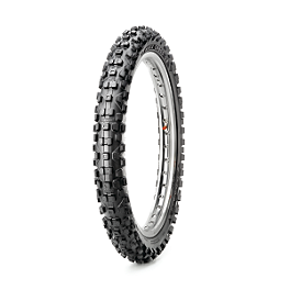 Maxxis Maxxcross SX Front Tire - 80/100-21 - 2002 Husqvarna TE450 Maxxis Maxxcross Desert IT Rear Tire - 110/100-18