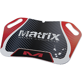 Matrix Concepts M25 Pit Board - 2007 Yamaha YFZ450 Blingstar Case Saver Cover - Polished Aluminum