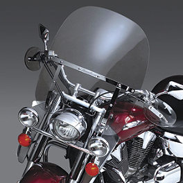 National Cycle Switchblade 2-Up Windshield Kit - 2000 Kawasaki Vulcan 800 - VN800A National Cycle Switchblade Windshield Chrome Lower