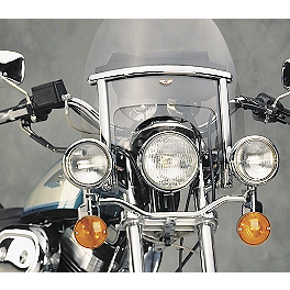 National Cycle Custom / Low Boy Heavy Duty Windshield Trim Kit - 2003 Honda Shadow Spirit 1100 - VT1100C National Cycle Switchblade Windshield Chrome Lower