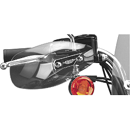 National Cycle Hand Deflector - Clear - 1994 Harley Davidson Softail Custom - FXSTC National Cycle Cruiseliner Quick Release Pocket-Back Saddlebags Without Mounts - Amber Reflector