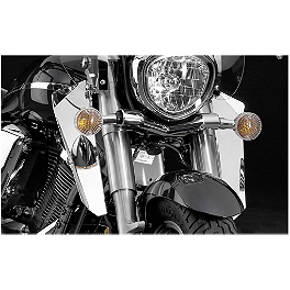 National Cycle Switchblade Windshield Chrome Lower - Show Chrome Lower Wind Deflector - Yellow