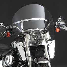 National Cycle Switchblade Chopped Windshield Kit - 2003 Honda Shadow Spirit 1100 - VT1100C National Cycle Switchblade Windshield Chrome Lower