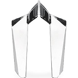 National Cycle Heavy Duty Wide Frame Windshield Chrome Lowers - 2004 Harley Davidson Dyna Wide Glide - FXDWG National Cycle Light Bar