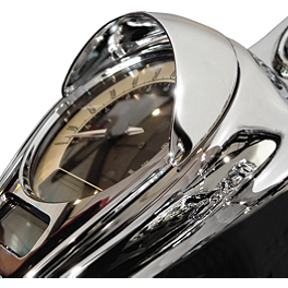 National Cycle Chrome Speedometer Cowl - 2009 Kawasaki Vulcan 2000 Classic - VN2000H Cobra Brake Reservoir Cover - Fluted