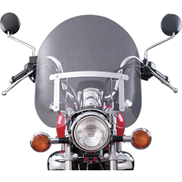 National Cycle Dakota 3.0 Tall Windshield - National Cycle Hand Deflector - Clear