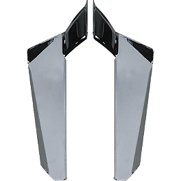 National Cycle Dakota 4.5 Chrome Lowers - 2000 Kawasaki Vulcan 800 - VN800A National Cycle Switchblade Windshield Chrome Lower