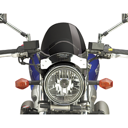 National Cycle Flyscreen Windshield - Dark Smoke - 1997 Honda Shadow VLX - VT600C National Cycle Hand Deflector - Clear