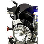 National Cycle Flyscreen Windshield - Dark Smoke - Kawasaki Vulcan 500 LTD - EN500C Cruiser Wind Shield and Accessories