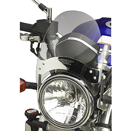 National Cycle Flyscreen Windshield - Light Smoke - Show Chrome E-Z Mount Cruiser Windshield For 1