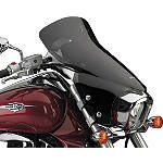 "National Cycle Fork Mount Vstream Windscreen - 10""/Dark Smoke - Motorcycle Windshields & Accessories"