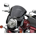 "National Cycle Fork Mount Vstream Windscreen - 16""/Dark Smoke - Motorcycle Windshields & Accessories"