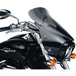 "National Cycle Fork Mount Vstream Windscreen - 19.25""/Dark Smoke - Motorcycle Windshields & Accessories"