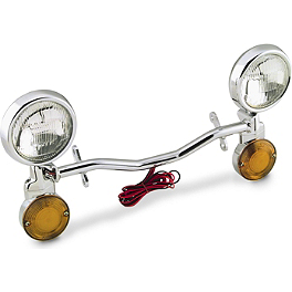National Cycle Light Bar - Show Chrome Halogen Spotlight Kit