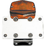 National Cycle Side Mount License Plate Bracket With Tail Light -  Cruiser Lights & Lighting
