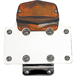National Cycle Fender Mount License Plate Bracket With Tail Light - National Cycle Hand Deflector - Clear