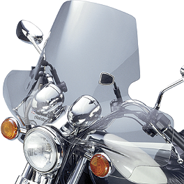National Cycle Plexistar 2 Windshield - National Cycle Flyscreen Windshield - Dark Smoke