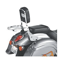National Cycle Paladin Backrest, Luggage Rack, & Quickset Mounting System Combo - 2002 Yamaha V Star 1100 Custom - XVS1100 National Cycle Light Bar