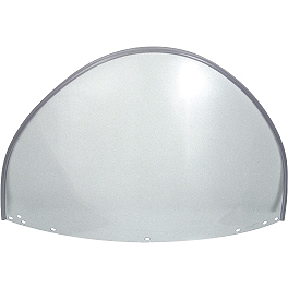 National Cycle Replacement Peaked Top Upper Shield For Beaded Heavy Duty Windshield - 1996 Kawasaki Vulcan 500 - EN500A National Cycle Dakota 3.0 Standard Windshield