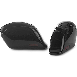 National Cycle Cruiseliner Quick Release Smooth-Back Saddlebags Without Mounts - Red Reflector - 2008 Kawasaki Vulcan 900 Classic - VN900B National Cycle Dakota 3.0 Standard Windshield