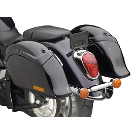 National Cycle Cruiseliner Quick Release Smooth-Back Saddlebags Without Mounts - Amber Reflector - Yamaha Star Accessories Deluxe Hard Sidebags - Raven