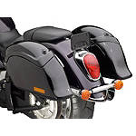 National Cycle Cruiseliner Quick Release Smooth-Back Saddlebags Without Mounts - Amber Reflector -  Cruiser Saddle Bags